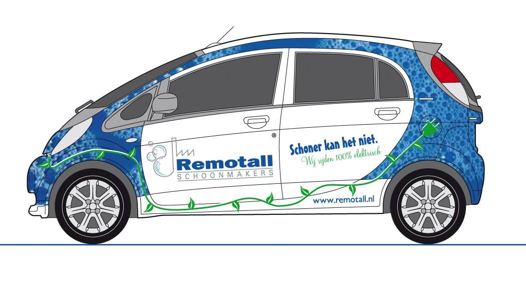 Carwrap Elektrische Auto Van Santen Belettering